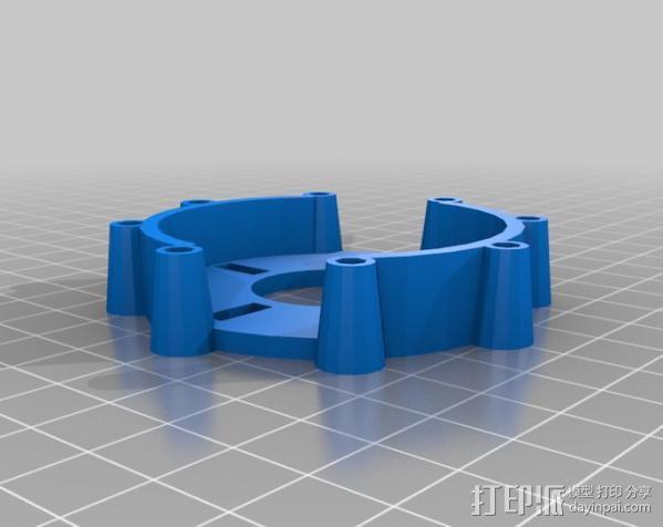 参数化自动滤光片转盘 3D模型  图4
