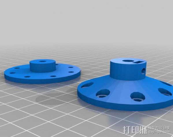 参数化自动滤光片转盘 3D模型  图5