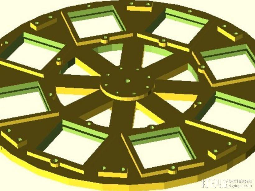 参数化自动滤光片转盘 3D模型  图9