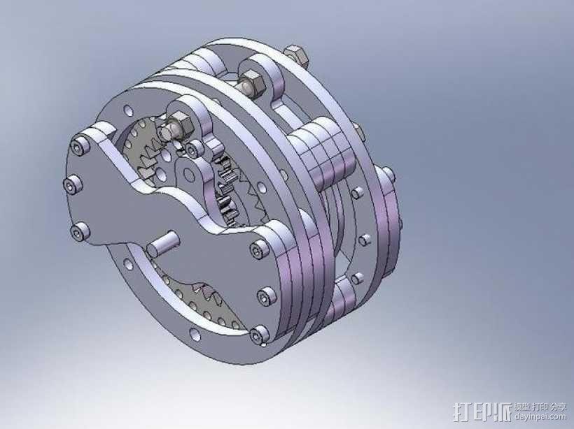 行星齿轮变速器 3D模型  图2