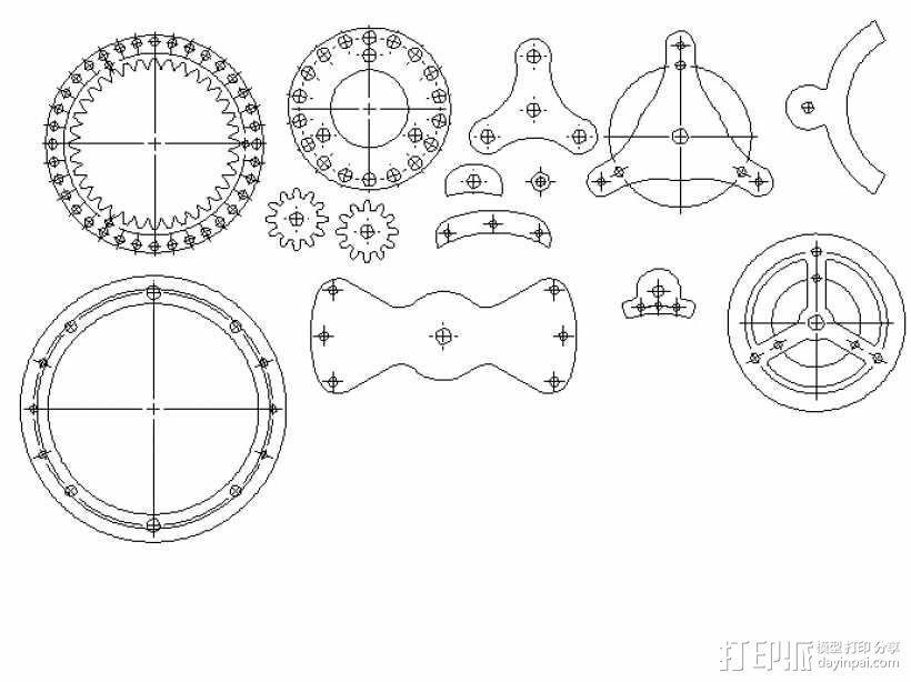 行星齿轮变速器 3D模型  图23