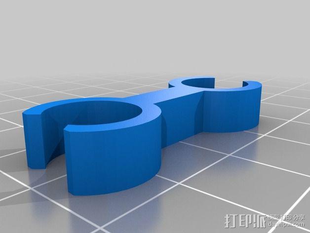 双探头架 3D模型  图4