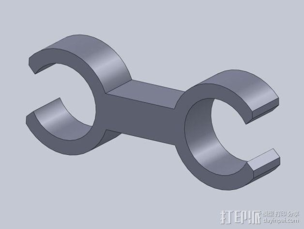 双探头架 3D模型  图5