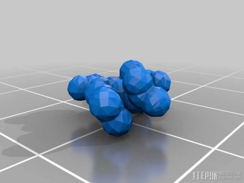 流感病毒神经氨酸酶模型 3D模型  图7