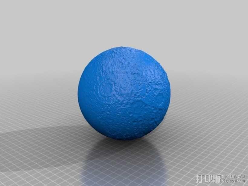 月球模型 3D模型  图1