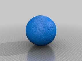 月球模型 3D模型