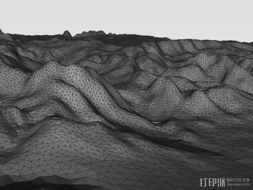 亚利桑那州地形图 3D模型  图3
