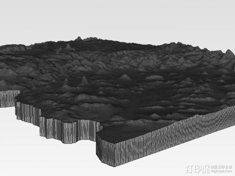 亚利桑那州地形图 3D模型  图4