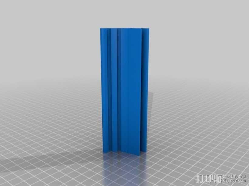 LED线形灯夹 3D模型  图2