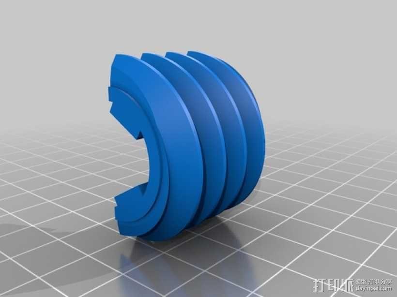 蜗轮 3D模型  图4