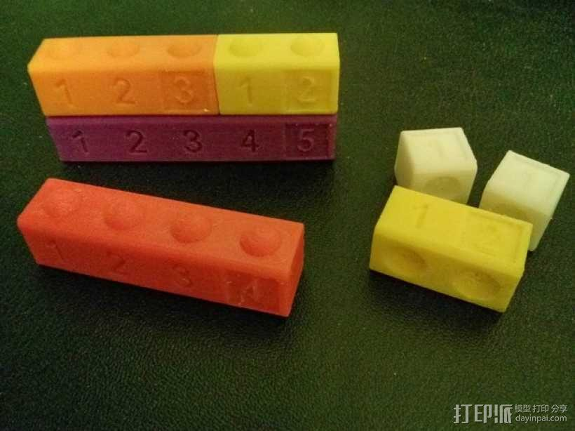 数字方块 3D模型  图1