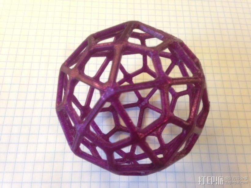 鸢形六十面体 3D模型  图1