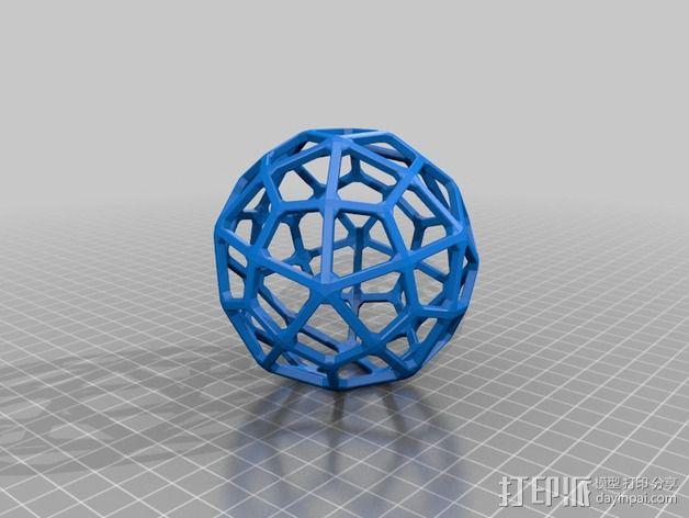 鸢形六十面体 3D模型  图2