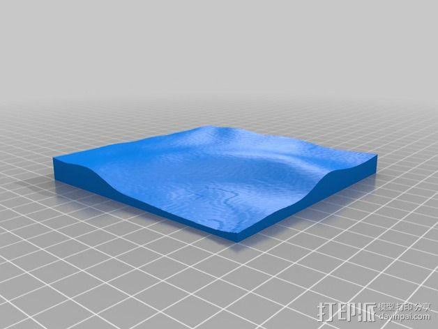 月球地势图模型 3D模型  图3