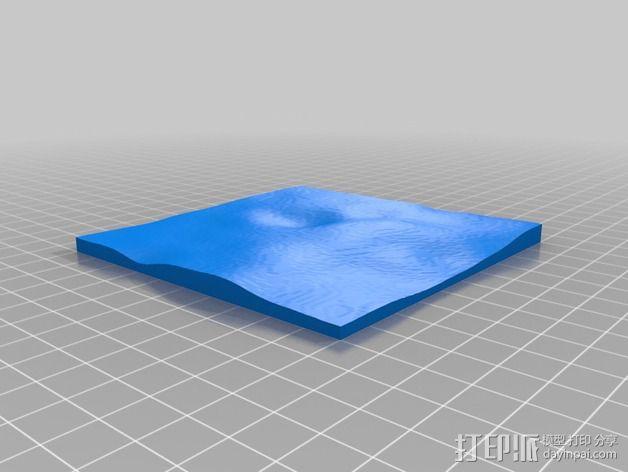 月球地势图模型 3D模型  图5