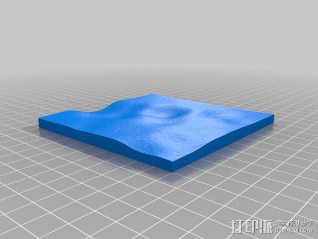 月球地势图模型 3D模型  图9