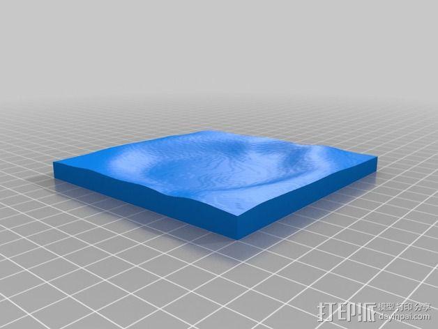 月球地势图模型 3D模型  图14