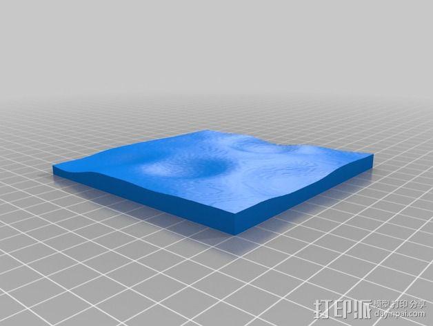 月球地势图模型 3D模型  图17