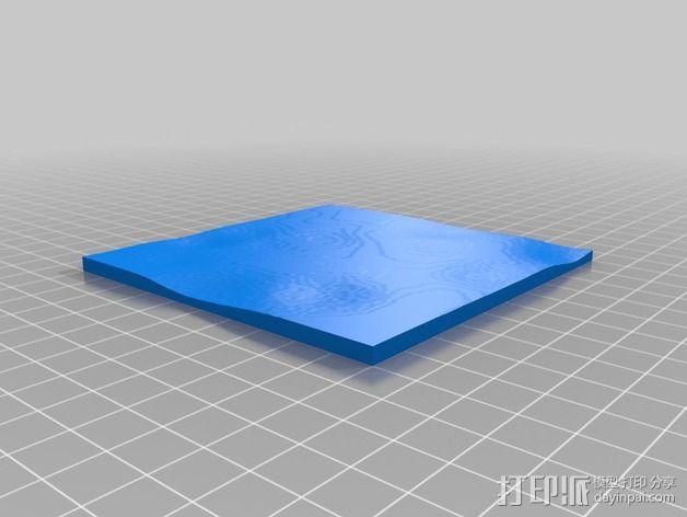 月球地势图模型 3D模型  图22