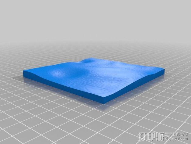 月球地势图模型 3D模型  图27