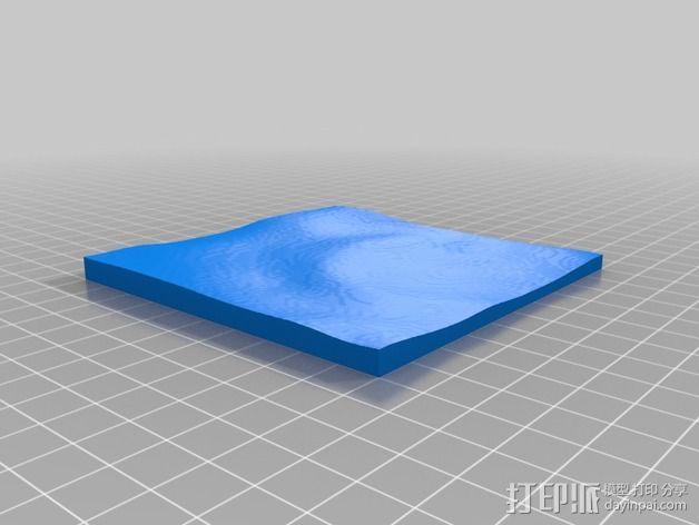 月球地势图模型 3D模型  图26