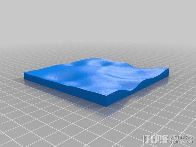 月球地势图模型 3D模型  图33