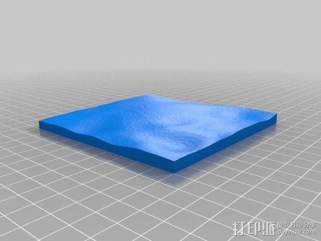 月球地势图模型 3D模型  图32