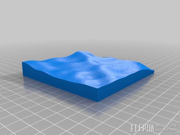 月球地势图模型 3D模型  图39