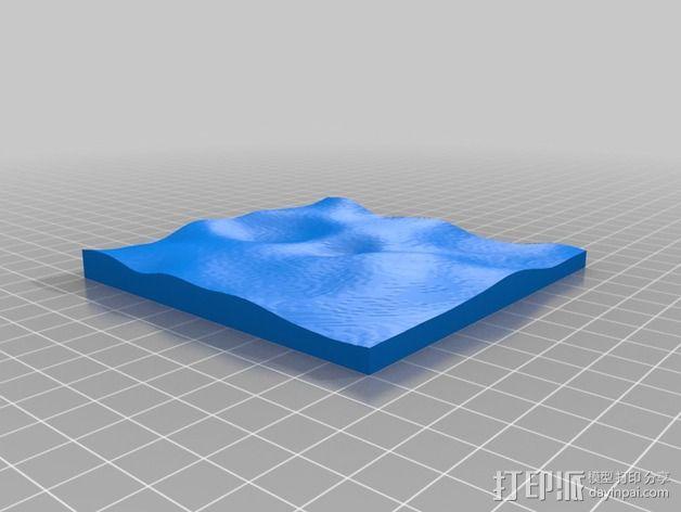 月球地势图模型 3D模型  图43