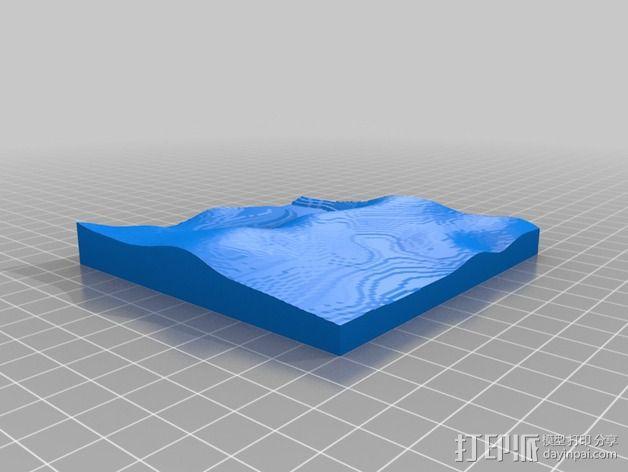 月球地势图模型 3D模型  图47