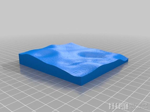 月球地势图模型 3D模型  图51