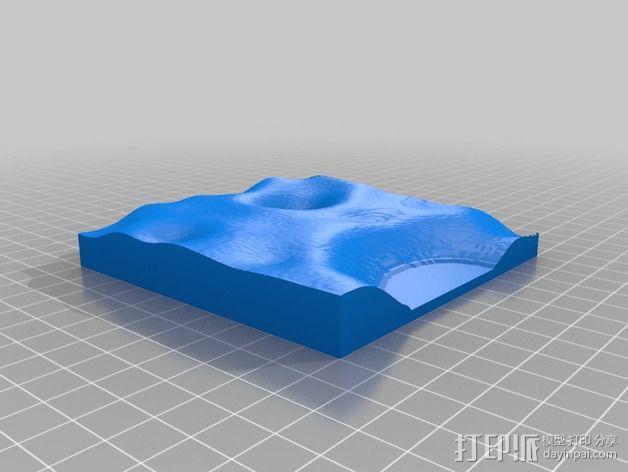 月球地势图模型 3D模型  图53