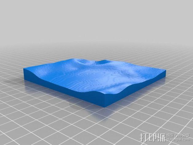 月球地势图模型 3D模型  图55
