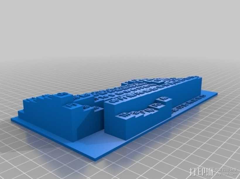 3D元素周期表 3D模型  图1
