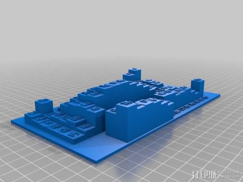 3D元素周期表 3D模型  图3