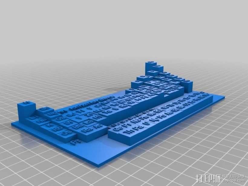 3D元素周期表 3D模型  图7
