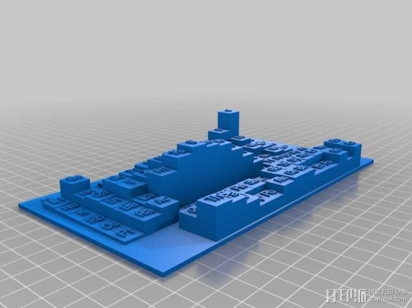 3D元素周期表 3D模型  图9