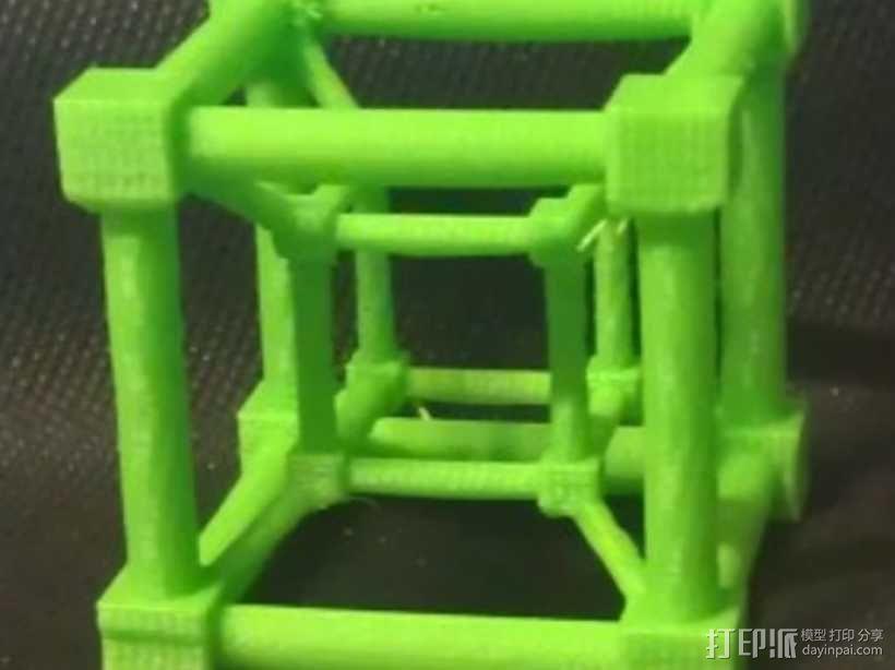 超立方体 四维超正方体 3D模型  图1