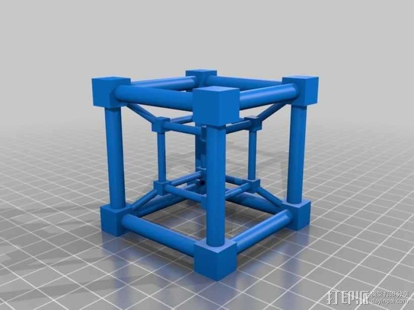 超立方体 四维超正方体 3D模型  图2