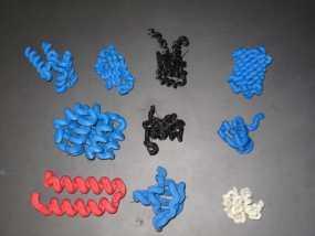 蛋白质结构模型 3D模型
