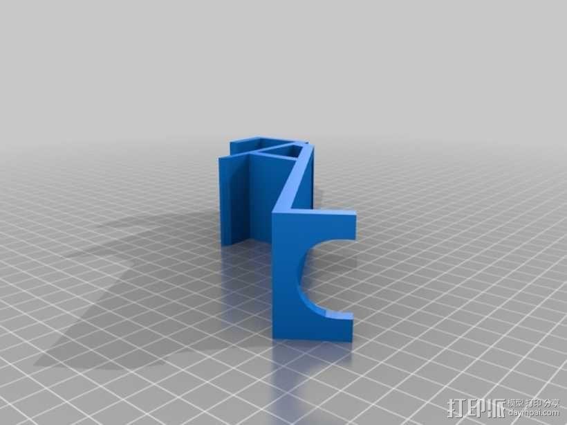 壁挂式吸管架 3D模型  图1