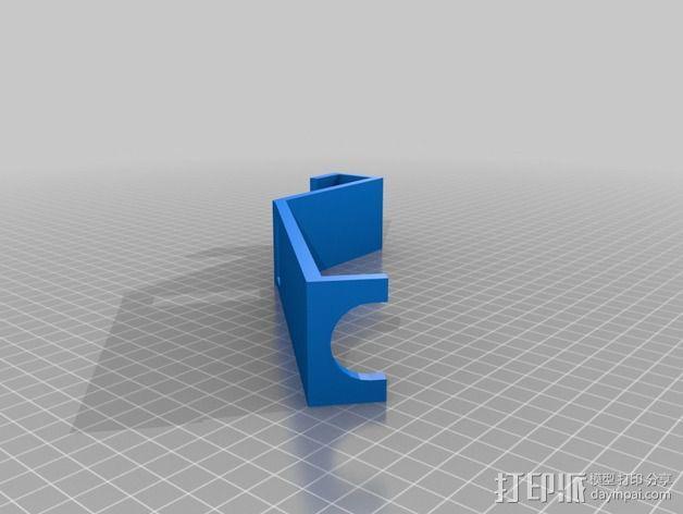 壁挂式吸管架 3D模型  图3