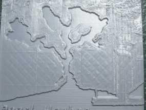 珍珠港和欧胡岛地形图模型 3D模型
