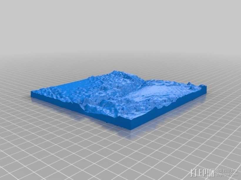 马里亚纳海沟地形图模型 3D模型  图1