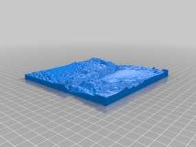 马里亚纳海沟地形图模型 3D模型