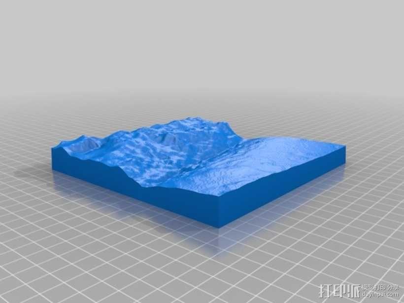 马里亚纳海沟地形图模型 3D模型  图3