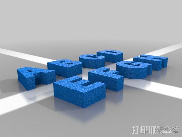 英文字母 字母块 3D模型  图2