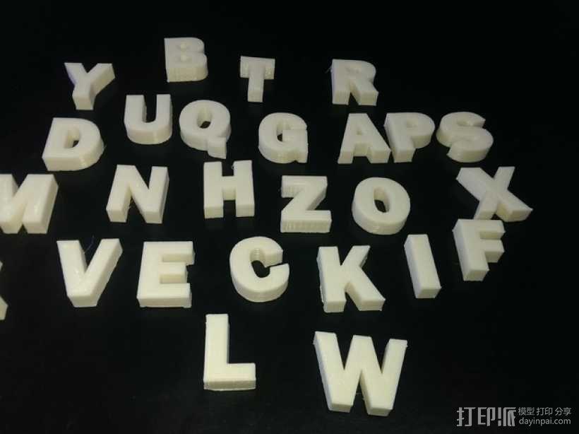 英文字母 字母块 3D模型  图1