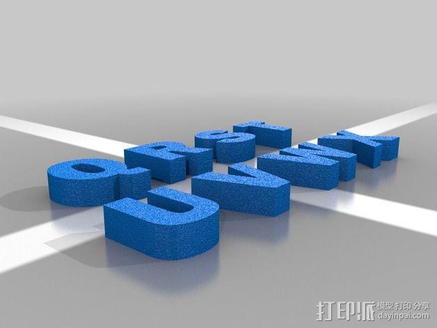 英文字母 字母块 3D模型  图5