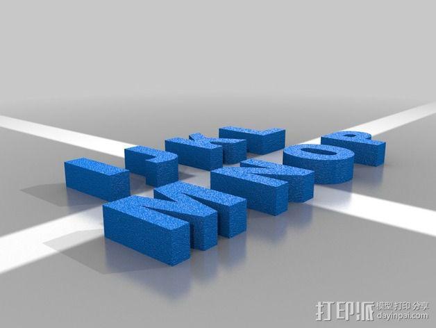 英文字母 字母块 3D模型  图4